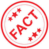 Fact rubber stamp Royalty Free Stock Images
