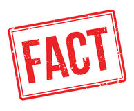 Fact rubber stamp Stock Image
