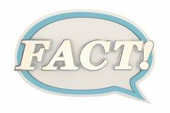 Fact Speech Bubble Confirmed Real Actual Info Stock Photography