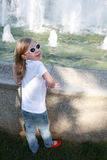 In fact surprised girl with sunglasses Royalty Free Stock Image
