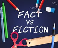 Fact Vs Fiction Words Represents Authenticity Versus Rumor And Deception - 3d Illustration