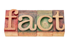 Fact word abstract Royalty Free Stock Photos