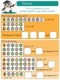 Facteurs mathématiques Images stock