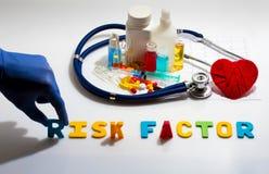 Factor de riesgo Imagen de archivo libre de regalías