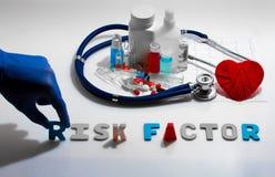 Factor de riesgo fotografía de archivo