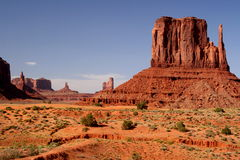 Factories. Rocks looming over monument valley stock photo