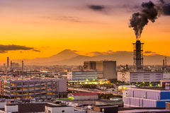 Factories and Fuji Royalty Free Stock Photos