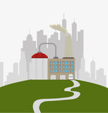 Factories and industries graphic. Design, vector illustration eps10 Royalty Free Stock Photo