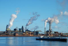 Factories near Amsterdam royalty free stock photo