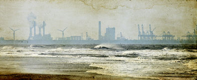 Factories on the seashore Royalty Free Stock Photography