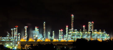 Factories are working at night. Stock Image
