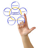 Engaged Employee. Factors providing for Engagement of Employee Royalty Free Stock Images
