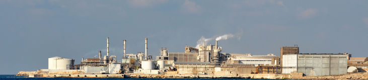 Factory. Situated in Batroon, Lebanon next to the sea Stock Photo