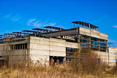 Factory. Ruins of a very heavily polluted industrial site, 1890's the place was known as one of the most polluted towns in Europe royalty free stock image
