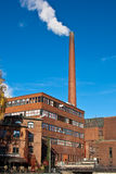 Factory. Old brick factory with bricks chimney Stock Image