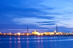 Factory. Power plant area of petrochemical Stock Photos