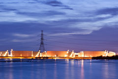 Factory. Power plant area of petrochemical Royalty Free Stock Photography