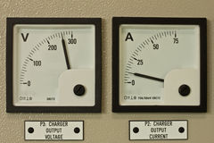 Factory. Control panel in substation room Stock Photo