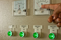 Factory. Control panel in substation room Stock Photography