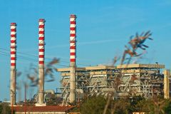 Factory. Of electrical energy in Jijel, Algeria Royalty Free Stock Photography