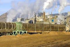 Factory 4. Smokestacks of a factory Royalty Free Stock Photos