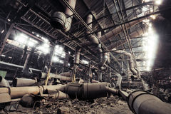 Factory. Abandoned Factory in Moscow region, Russia royalty free stock photography