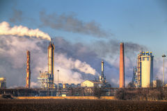 Factory with air pollution Royalty Free Stock Photography