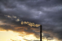 Factory with air pollution Stock Image