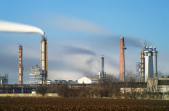 Factory with air pollution Royalty Free Stock Photo