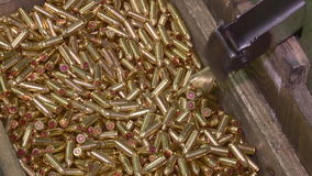 Factory of ammunition, bullets for rifle stock video footage