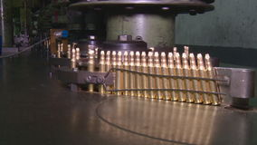 Factory of ammunition, bullets for rifle stock video