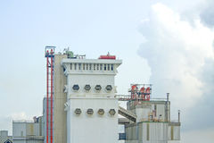 Factory of animal feed in the dayligth Stock Photography