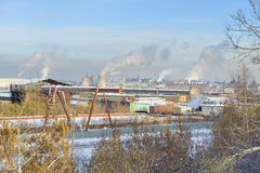 Factory area, the smoking pipe, pollution Royalty Free Stock Photography