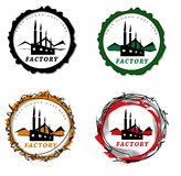 Factory badges Stock Images