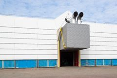 Factory building with a ventilation system Stock Photos