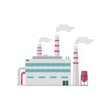 Factory Building in Flat Royalty Free Stock Image