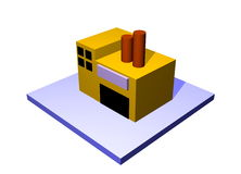 Factory Building Icon Navigation Royalty Free Stock Photo