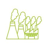 factory building icon Stock Images