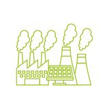 factory building icon Stock Photo