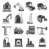 Factory building icons Stock Photo