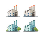 Factory Building Illustration Stock Photography