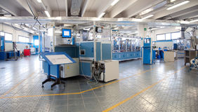 Factory - Building line e machine for automation Stock Photos
