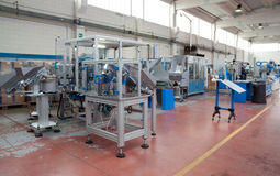 Factory - Building line e machine for automation Stock Images