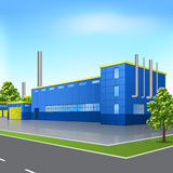 Factory building with offices and production facilities Royalty Free Stock Photography