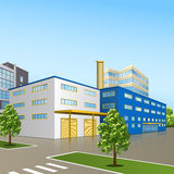 Factory building with offices and production facilities Royalty Free Stock Image