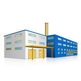 Factory building with offices and production facilities Stock Images