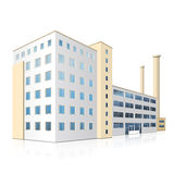 Factory building with offices and production facilities Stock Photo