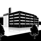 Factory building with offices and production facilities Royalty Free Stock Photo