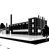 Factory building with offices and production facilities Stock Photography