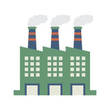 Factory Building With Smoke Stacks Royalty Free Stock Photography